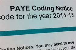PAYE Tax Codes For The 2014/2015 Tax Year