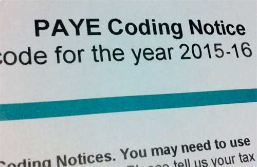 PAYE Tax Codes For The 2015/2016 Tax Year